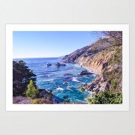 California Dreamin - Big Sur Art Print