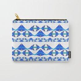 Neo Tribal Polynesian Modern Ocean Print Carry-All Pouch