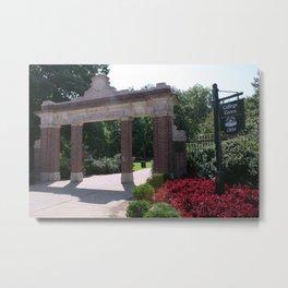 Ohio University College Gate  Metal Print
