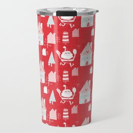 Santa is in Town Red #Holiday #Christmas Travel Mug