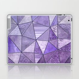 Purple Lilac Glamour Shiny Shimmering Patchwork Laptop & iPad Skin