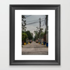 Yellow Can Road Framed Art Print