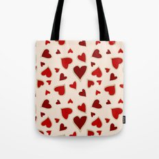Ditsy dark hearts for lovers Tote Bag