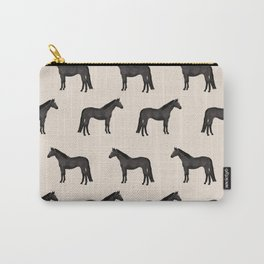 Black horse farm animal horses gifts Carry-All Pouch
