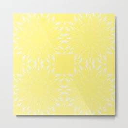 Lemon Yellow Color Burst Metal Print