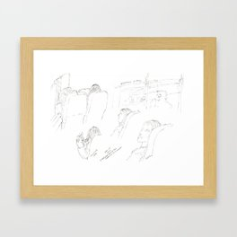 Mix of Images on the Greyhound Framed Art Print