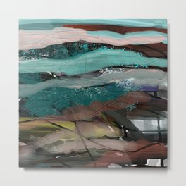 Layered Abstract Sunsets Metal Print