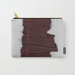 Red Ruffle Carry-All Pouch