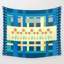 Playful Plaid and Polka Dots Wall Tapestry