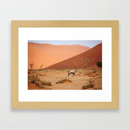 NAMIBIA ... Sossusvlei Oryx II Framed Art Print