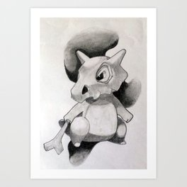 Pokémon Cubone Print  Art Print