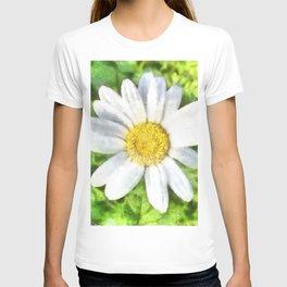 Radiant Daisy Watercolor T-shirt