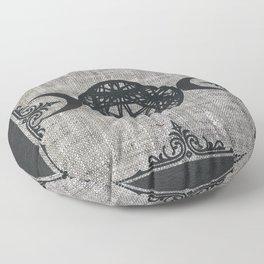 Black Magic Triple Moon Pentagram Star Floor Pillow