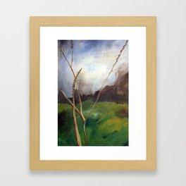 Dusky Grass Framed Art Print