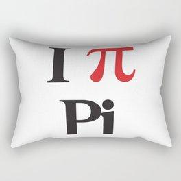 I Heart Pi Rectangular Pillow