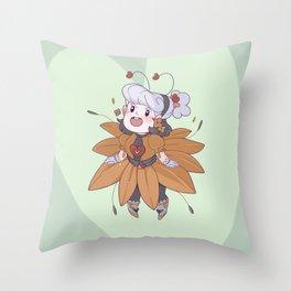 Sunflower Opal Throw Pillow