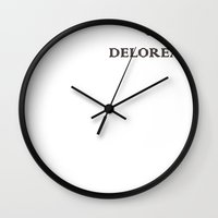 delorean Wall Clocks featuring Delorean by ruvaen