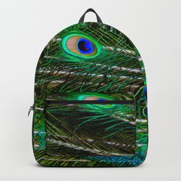 Peacock Feathered Backpack