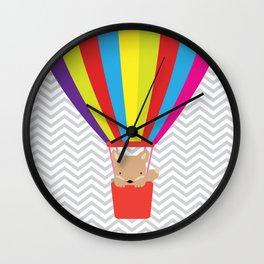 hot air balloon , Wall Clock