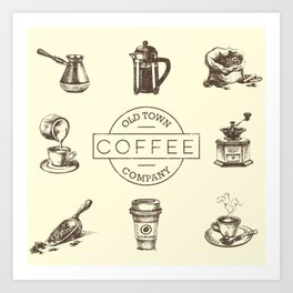 Old Town Coffee Company Art Print