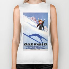 Aosta Valley winter sports Biker Tank