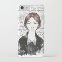 jane eyre iPhone & iPod Cases featuring Jane Eyre by Makissima