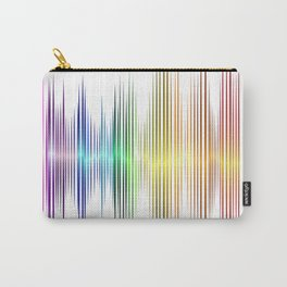 rainbow sound wave curve Carry-All Pouch