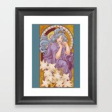Chronos II Nouveau Framed Art Print