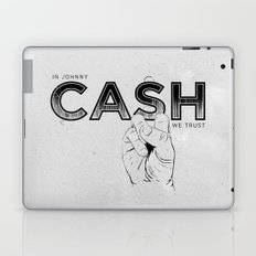 In Johnny Cash We Trust. Laptop & iPad Skin
