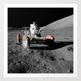 Apollo 17 - Moon Buggy Art Print