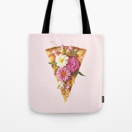 FLORAL PIZZA Tote Bag