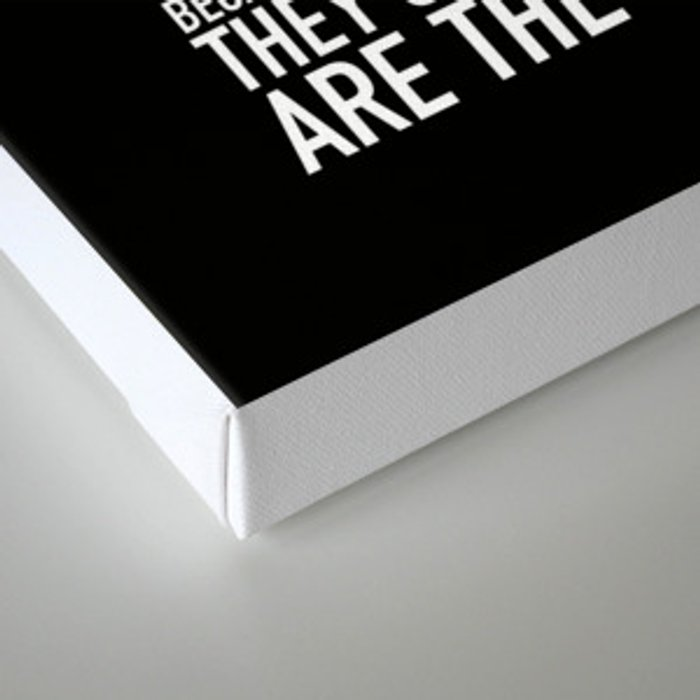 Here's to the crazy ones (Black) by Brian Vegas Canvas Print