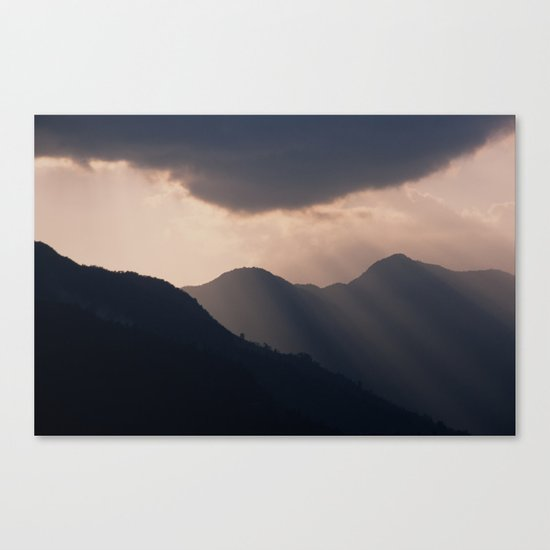 let there be night Canvas Print