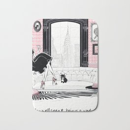 Fashion illustration - A Sunday well spent, brings a week of content. Bath Mat