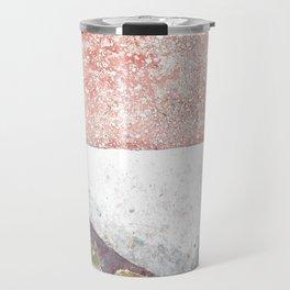 Abstract Pink Art Travel Mug