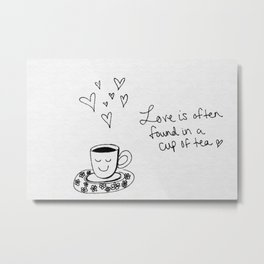 Happy Tea Metal Print