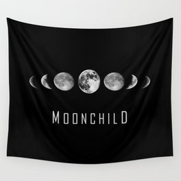 Moonchild - Moon Phases Wall Tapestry