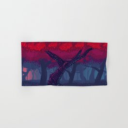 Pixel Red Forest Hand & Bath Towel