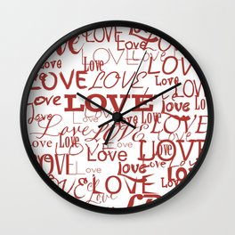 Love, love, love! Wall Clock