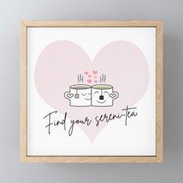Find your sereni-tea Framed Mini Art Print