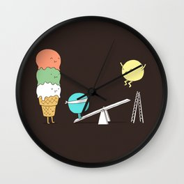 Acrobatic ice cream Wall Clock