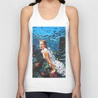 kate moss Tank Tops featuring Kate Moss by John Turck