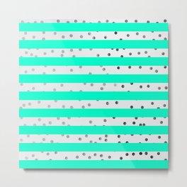 modern stylish blue line pattern Metal Print