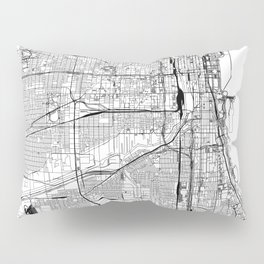 Chicago White Map Pillow Sham
