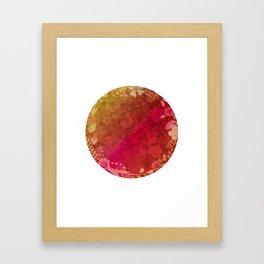 Vintage Rainbow Floral Framed Art Print