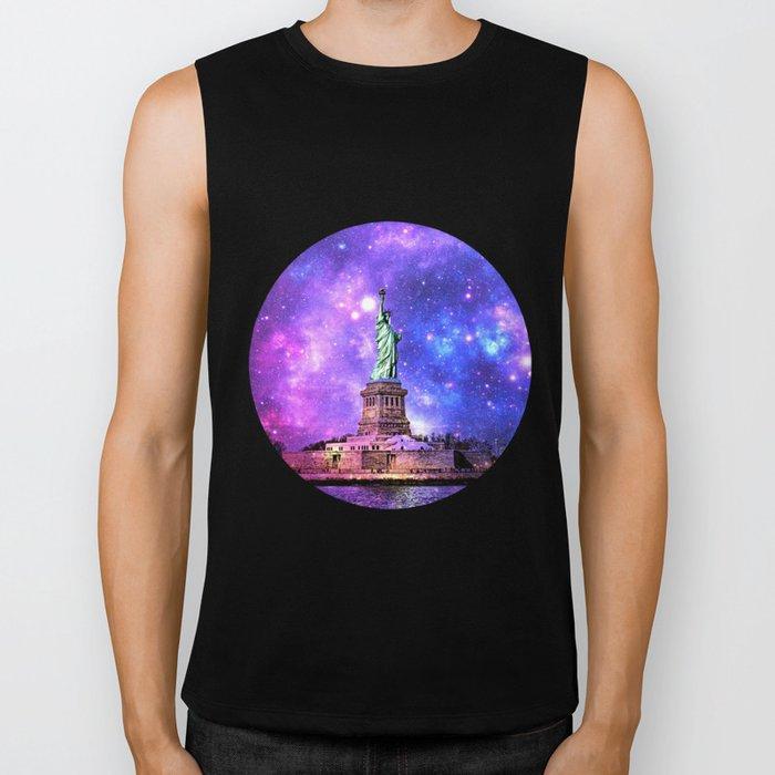 space Statue of Liberty Biker Tank