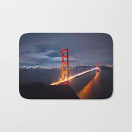 Golden Gate Bridge at Night | San Francisco, CA Bath Mat