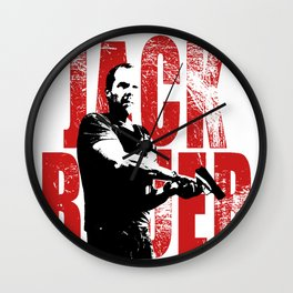Jack Bauer, action hero Wall Clock
