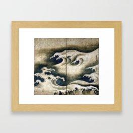 Ogata Kōrin Rough Waves Framed Art Print