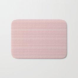Decorative Pink White Fine Lines Design Bath Mat